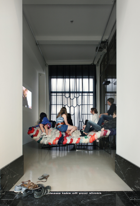 """51N4E monographic exhibition """" Double or Nothing"""",  at Bozar, Brussels, 2011 - photo: Filip Dujardin"""