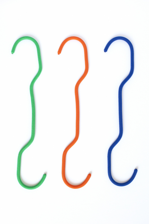Fish Hook, green, orange, blue