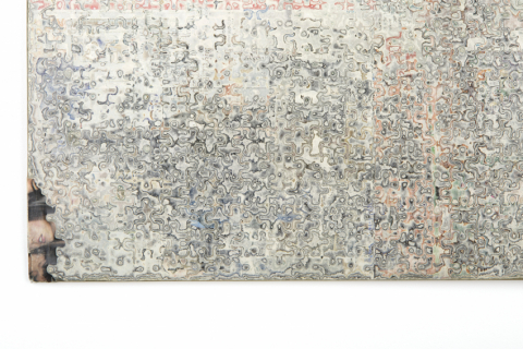 puzzle on woodboard, detail - photo: Christian Aschman